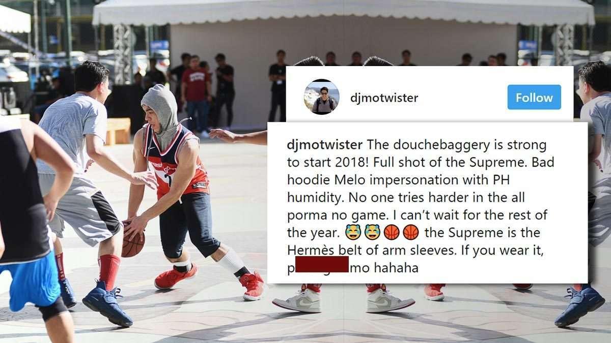 DJ Mo Twister Trolls Sportscaster Anton Roxas On Instagram