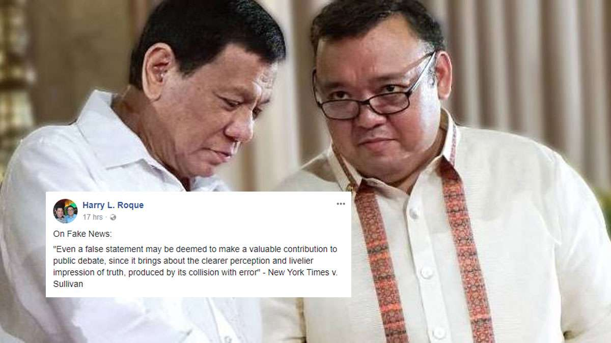 Harry Roque Believes Fake News Is Essential—Savage Reactions Follow