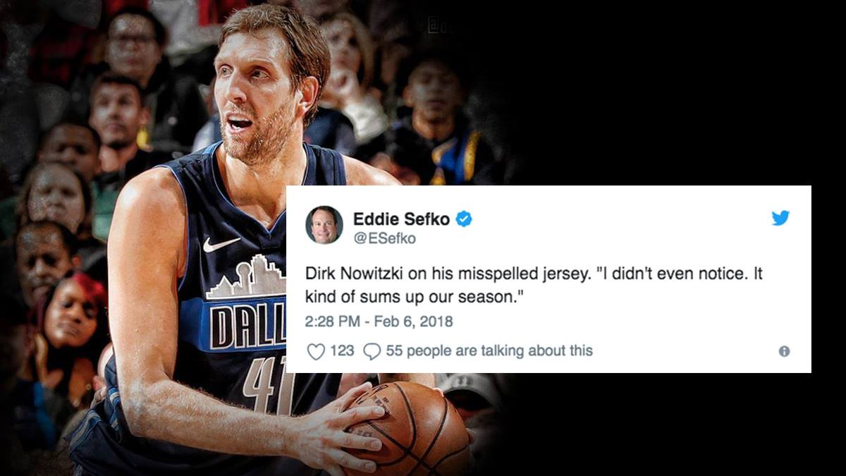 The Funniest Reactions To Dirk's Misspelled 'Nowitkzi' Jersey