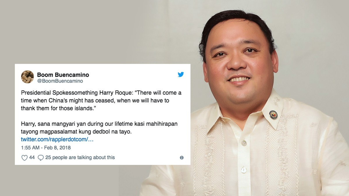 Netizens Roast Harry Roque Over Comment On China's Military Base
