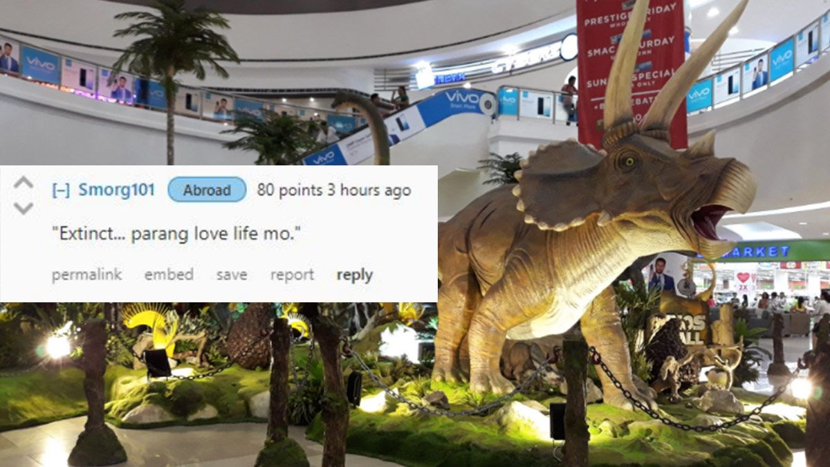 The Funniest Reactions To SM's Anti-Valentine Dinosaur Display