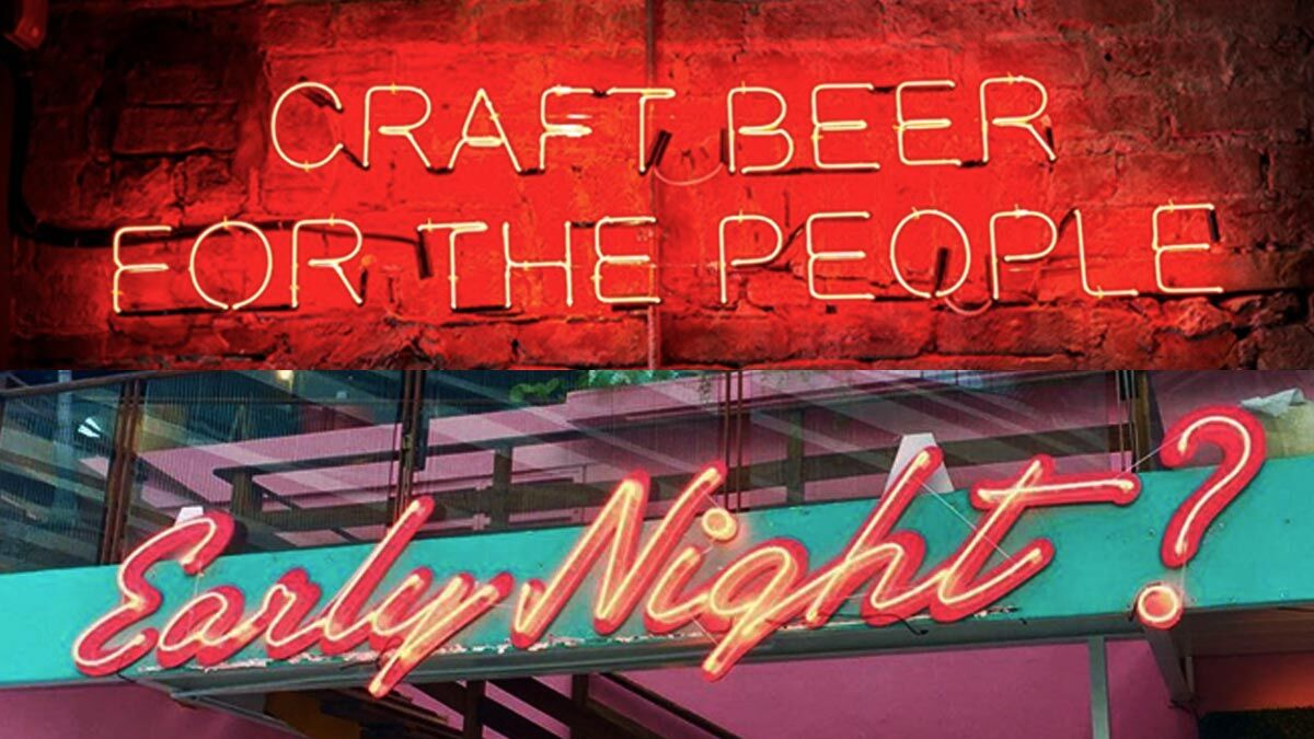 8 Of The Coolest Neon Lit Bars In The Metro