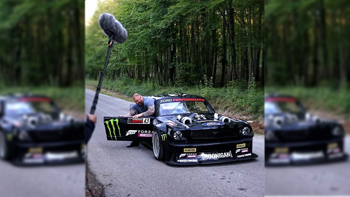 Hafthor Julius Bjornsson Can T Fit Inside Ken Block S Ford Mustang