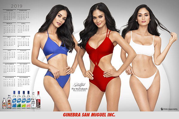 2019 Girl Calendars The Hottest Ginebra San Miguel Calendar Girls Of All Time