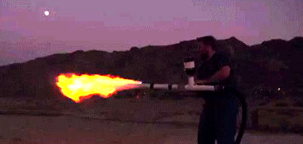WTF News: This Poop-Powered Flamethrower Produces 30-Foot Flames!