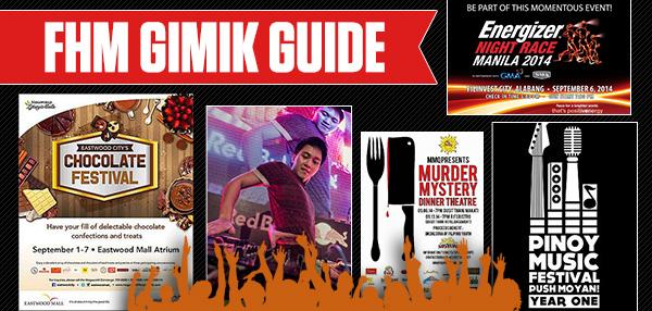 The FHM Gimik Guide: September 5, 2014