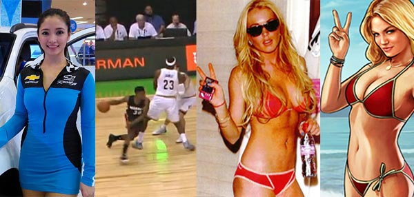 FHM's Best Of The Weekend: Lindsay Lohan Lives, Chevy Car Show Girls, And LeBron's Little Boo-boo