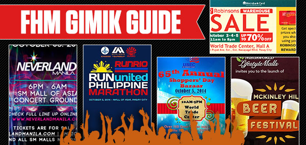 The FHM Gimik Guide: Neverland Manila 2014 Leads This Long Weekend's Party Schedule!