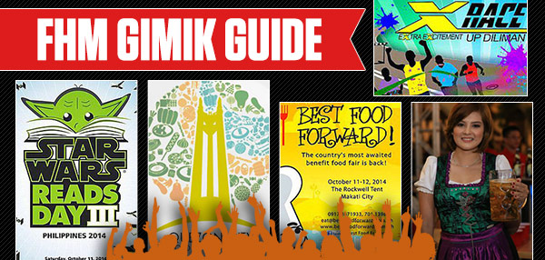 FHM Gimik Guide: Cap Your Week With These Massive Music, Food, And Beer Festivals!