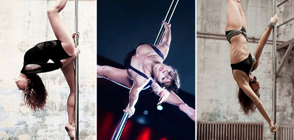 This French Hottie Works The Pole Like No One Else Can!