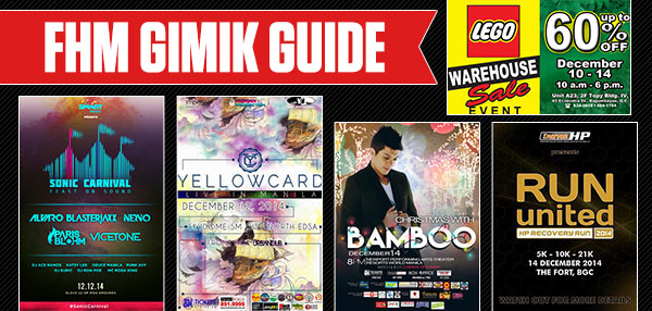 The FHM Gimik Guide: A Massive EDM Party, A Trip To 'Ocean Avenue,' And A Huge Lego Sale!
