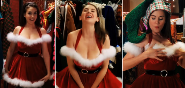 FHM's Sexy GIFS To End The Week: Sexy Santa's Helper Alison Brie Makes Our Wishes Come True!
