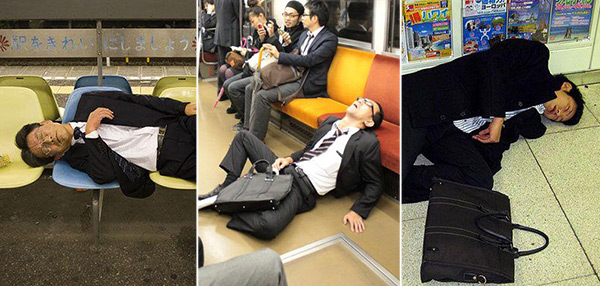 FUNNY SH*T: A Gallery Of Drunk Japanese Salarymen