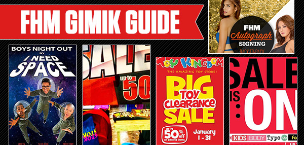 The FHM Gimik Guide: A Double FHM Autograph Signing, Massive Sales, And Kick It With The Boys Night Out!