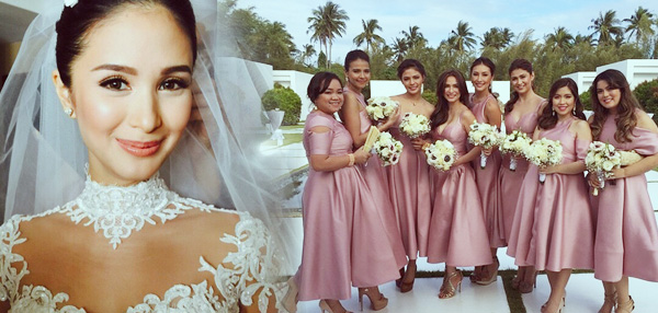 #ChizHeart21515: Heart Evangelista Is The Prettiest Bride In The History Of All Weddings, And Her Bridesmaids Aren't Far Behind