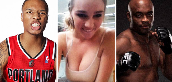FHM's Best Of The Weekend: Damian Lillard Is Pissed, Busty College Girl Gets Busted For Posting On Pornhub, And Anderson Silva Returns