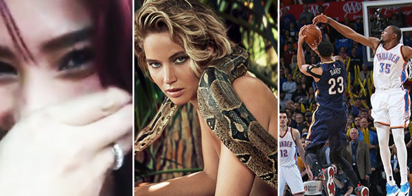 FHM's Best Of The Weekend: RR Enriquez's Rude Prank, Jennifer Lawrence Goes Nude, And Anthony Davis' Amazing Game-Winner