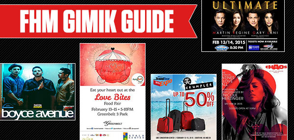 The FHM Gimik Guide: Awesome Concerts And The Sweetest Deals For Couples This Valentine's Weekend