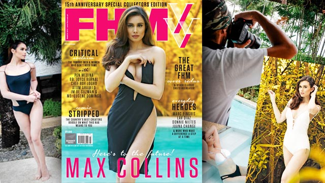 #FHMXVMax: Max Collins Celebrates Poolside With FHM As We Turn Fifteen!
