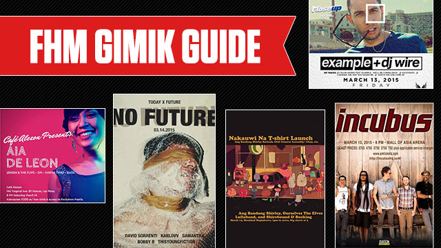 The FHM Gimik Guide: Incubus Is Back In Manila, A Pop N' Shop In Kapitolyo, And A Free Indie Gig In QC!