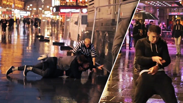 PRANK OF THE DAY: YouTube's WWE-Obsessed Dude Is Back, And He's Now Putting Finishing Moves On People In Public!