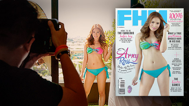 #FHMBubblyArny: Go Behind The Scenes Of Arny Ross' Super Hot FHM Cover Shoot