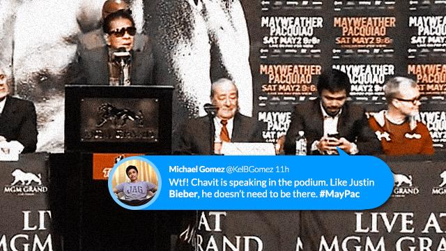 #MoveOverBieber: Gov. Chavit Speaks At The #MayPac PressCon, Netizens React