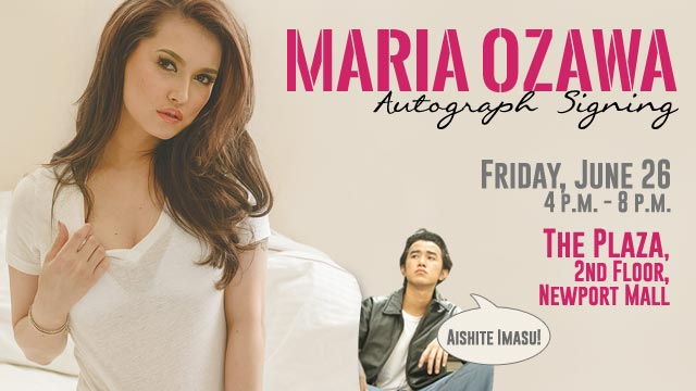 8 Japanese Phrases To Tell Maria Ozawa At Her Autograph Signing Event Tomorrow