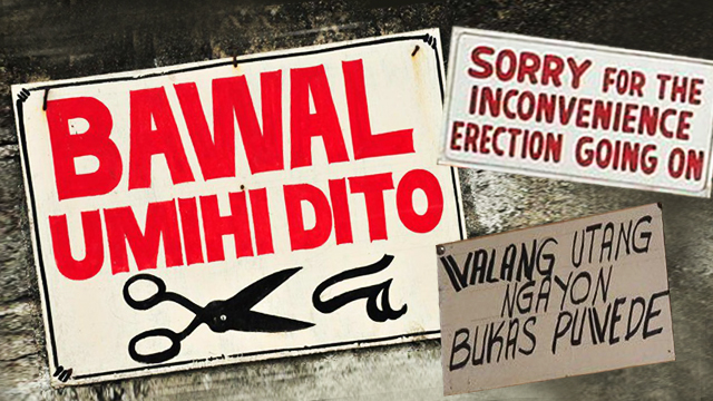 19 Pinoy Signs That Will Surely Make Your Day