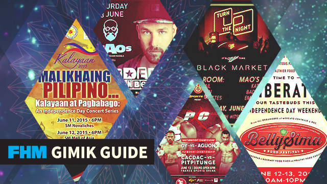 The FHM Gimik Guide: An Action-Packed PXC 48, An Independence Day Concert Series & A Unique Food Fest