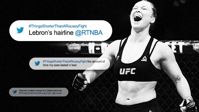 Twitterverse Lists Down #ThingsShorterThanARouseyFight