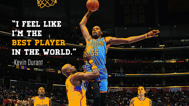 Kevin Durant Feels He's 'The Best Player In The World' Right Now