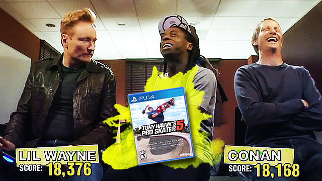 Conan Asks If It's A 'Skate Move' Or A 'Sex Position' In Video Feature For Tony Hawk's Pro Skater 5
