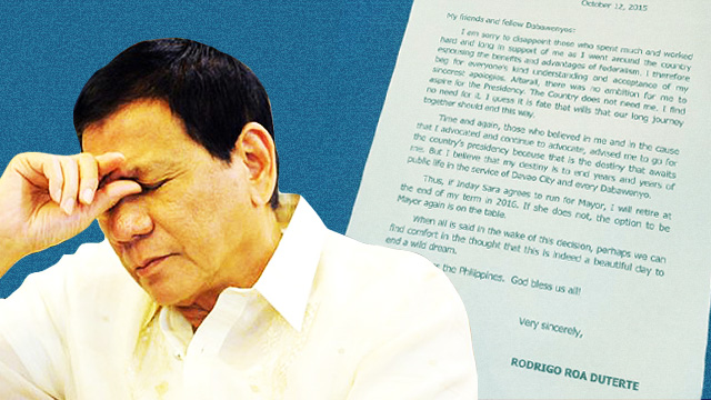 All The Feels To Mayor Duterte's (Latest) 'I Am Not Running' Announcement