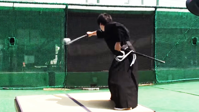 FTW Video Of The Day: Modern Samurai Easily Slices 100MPH Baseball In Half