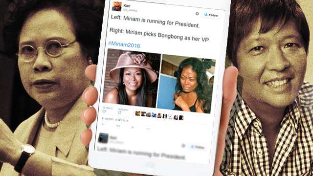 REALLY, MIRIAM? How Twitterverse Took In Bongbong Marcos As Her Running Mate
