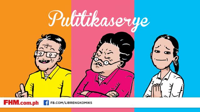 Libreng Komiks On FHM: PulitikaSerye #1 - 'Presidential Slogans'