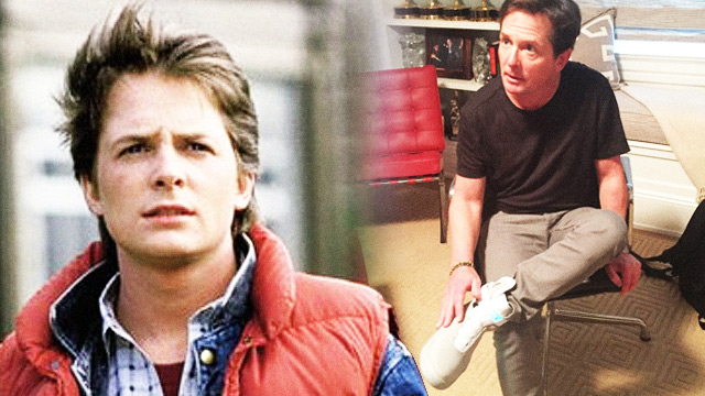 WATCH: Michael J. Fox (AKA Marty McFly) Tries On Real Self-Lacing Shoes