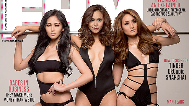 Beauty Queens Danielle Castaño, Cindy Miranda, And Queenie Rehman Are FHM's October 2015 Cover Girls!