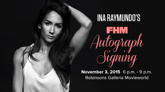 10 Ways To Impress Ina Raymundo At Her FHM Autograph Signing
