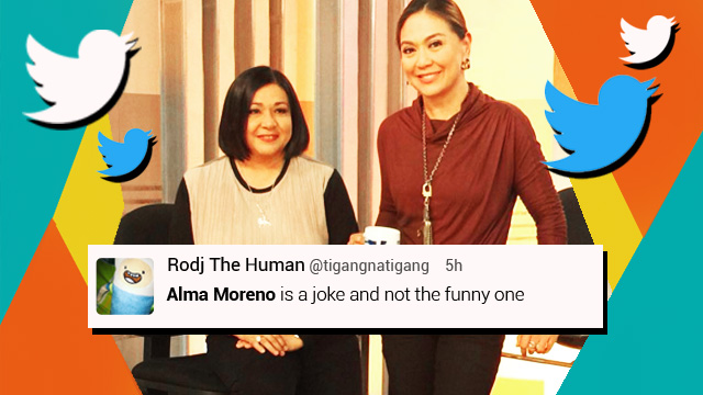 FAIL-ITICS: Senatoriable Alma Moreno's Views On Same-Sex Marriage And The BBL Shake Heads