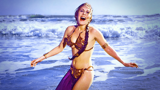 Princess Leia Wows In These Vintage Star Wars Bikini Photos