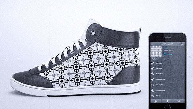 This Shoe Has A Customizable Exterior—And Can Display All Sorts Of Graphics!
