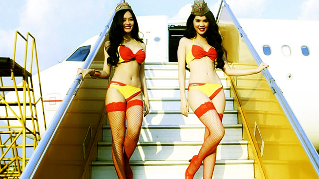 There's An Airline With Flight Attendants Clad In Bikinis