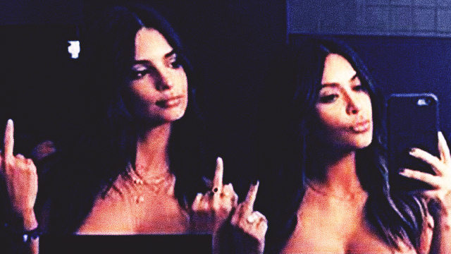 LOOK: Kim Kardashian And Emily Ratajkowski Join Forces For Topless Selfie