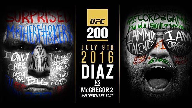 UFC 200's Posters Have Been Revealed And We Seriously Can't Wait