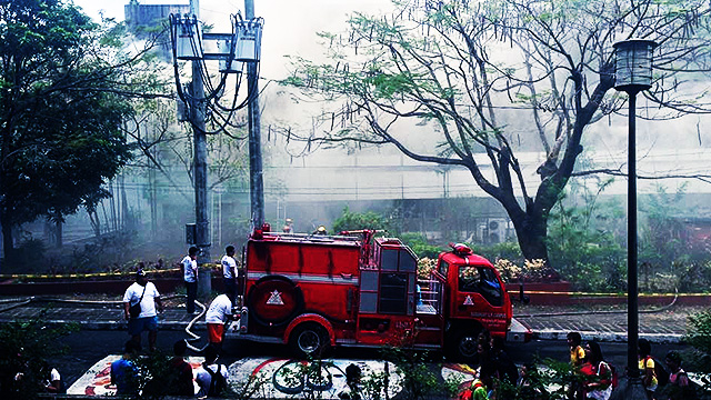 Fire Blazes Anew In UP Diliman Faculty Center
