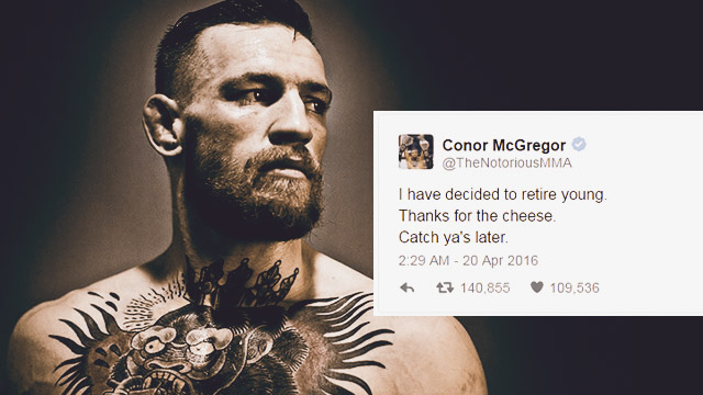 What The Hell: Conor McGregor Announces Retirement Through Tweet