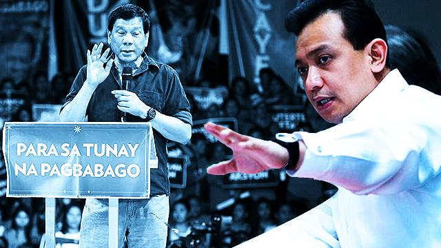 Trillanes Calls Duterte Supporters Hypocrites After Negative Ad