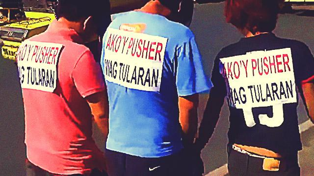 11 Suspected Drug Pushers Forced To Do 'Walk Of Shame' In Batangas